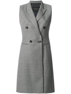 двубортное пальто без рукавов  Giambattista Valli