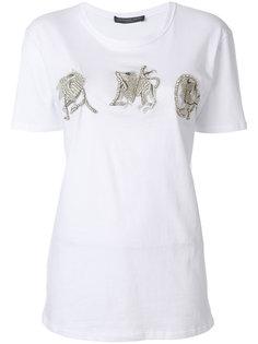 декорированная футболка  Alexander McQueen