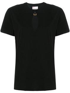 футболка с вырезом капелькой  Red Valentino