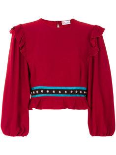 укороченная блузка с оборками Red Valentino