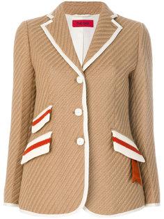 пиджак с контрастной окантовкой The Gigi