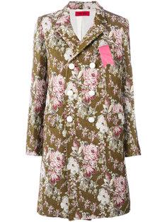 двубортное пальто с цветочным узором The Gigi
