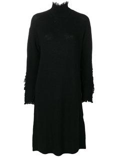 платье с отворотом  Yohji Yamamoto