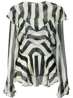 блузка с принтом и оборкой  Alberta Ferretti