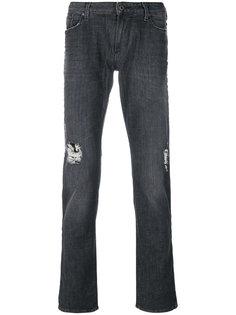 джинсы с потертой отделкой Armani Jeans