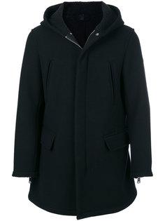 пальто с капюшоном и карманами с клапанами Armani Jeans