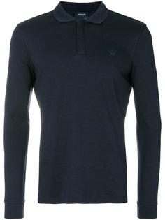 футболка-поло с длинными рукавами Armani Jeans