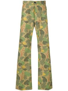 брюки с изображением листьев Walter Van Beirendonck
