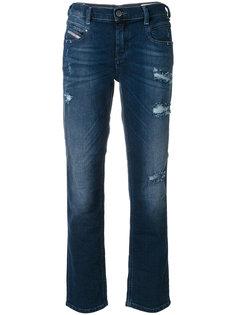 состаренные укороченные джинсы  Diesel