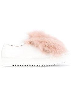 кроссовки с лисьим мехом Mr & Mrs Italy