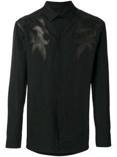 рубашка с кожаной вставкой Haider Ackermann