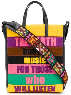"""сумка дизайна """"пэчворк"""" с надписью Etro"""