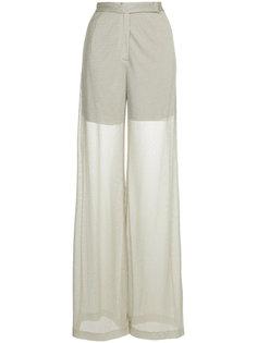 прозрачные брюки с завышенной талией Maison Esve