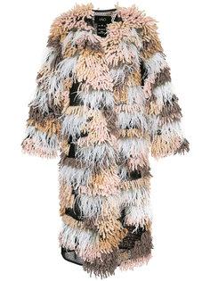 фактурное пальто-кардиган длины миди Lalo