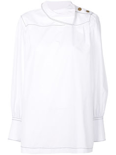 блузка на пуговицах с высоким воротником  Sonia Rykiel