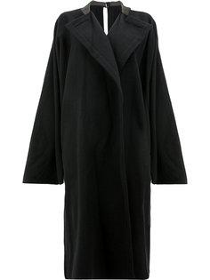 пальто кроя оверсайз Yohji Yamamoto