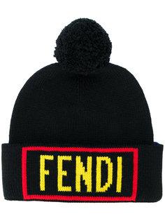 двусторонняя шапка Fendi