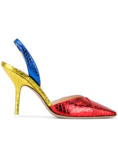 туфли-лодочки с тиснением под змеиную кожу Attico