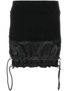 юбка-мини с подолом на шнурке в стиле парашюта Versus