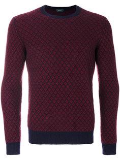 свитер с контрастным дизайном Zanone