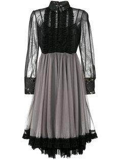 платье из тюля с оборками Antonio Marras