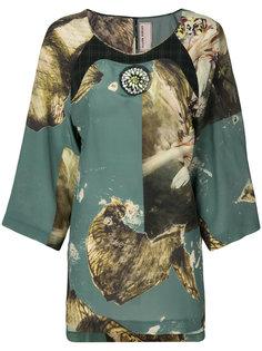 блузка с принтом Antonio Marras