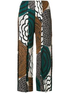 укороченные брюки с принтом Pleats Please By Issey Miyake