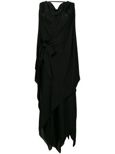 драпированное платье без рукавов из шифона Maison Margiela