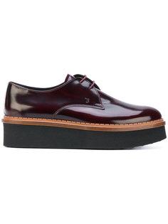 туфли на шнуровке на платформе Tods Tod`S