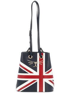 сумка Union Jack Feline Bucket Charlotte Olympia