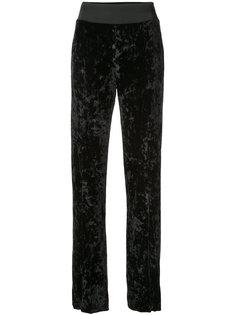 бархатные брюки с шлицами спереди Jonathan Simkhai