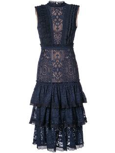 lace embellished ruffle dress Jonathan Simkhai