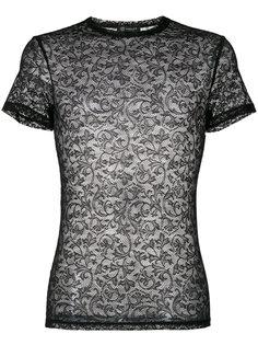 гипюровая футболка Versace