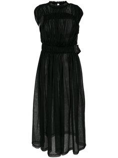 прозрачное платье с присборенной отделкой Comme Des Garçons Noir Kei Ninomiya