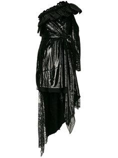 платье с запахом асимметричного кроя Self-Portrait