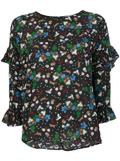блузка шифт с цветочным принтом  Essentiel Antwerp