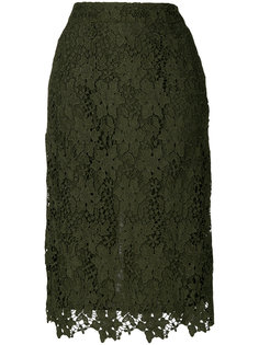 кружевная юбка миди с вышивкой  Essentiel Antwerp