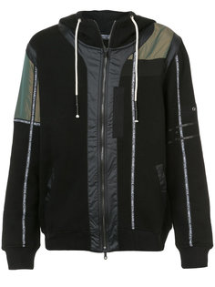 branded taping zip up hoodie  Mostly Heard Rarely Seen