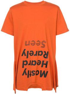 футболка с перевернутым логотипом Mostly Heard Rarely Seen