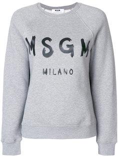 толстовка с принтом с логотипом MSGM