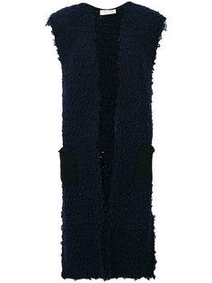 трикотажное платье с V-образным вырезом  Lamberto Losani