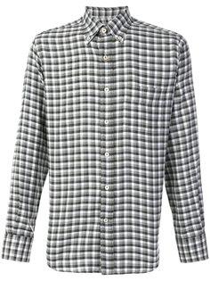 клетчатая рубашка современного кроя Canali