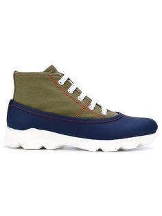 панельные кроссовки на шнуровке Marni