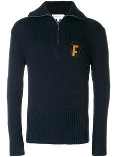 свитер с заплаткой F Salvatore Ferragamo