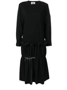платье-футболка с оборками Yohji Yamamoto