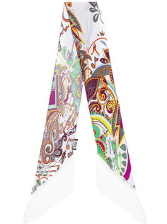 шарф с цветочным принтом и бахромой Rockins