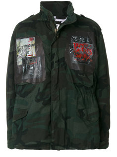 камуфляжное пальто с нашивками Pihakapi