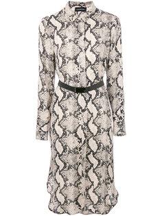 платье-рубашка со змеиным принтом  By Malene Birger