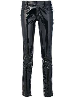 брюки скинни с эффектом змеиной кожи Gianluca Capannolo