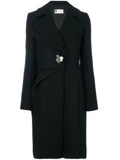 пальто с декорированной пуговицей  Lanvin